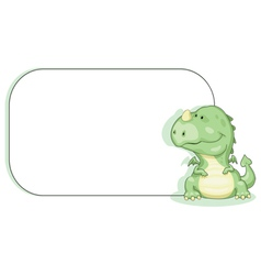 cartoon dragon with copy space vector image vector image
