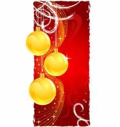 Christmas gold balls vector image vector image