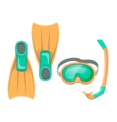 Colorful of diving mask vector image vector image