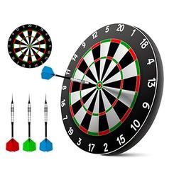 Dart and dartboard vector