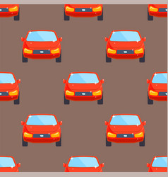 flat red car vehicle type design sedan seamless vector image