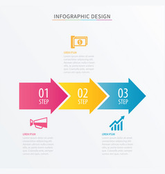 Infographics arrow number 3 step template vector