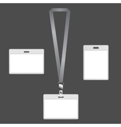 Lanyard badges vector