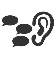 Listen gossips flat icon vector
