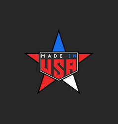 made in usa logo in form star united states of vector image