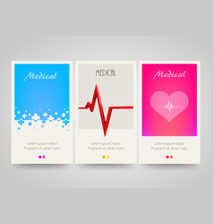 Modern colorful vertical medical banners abstract vector