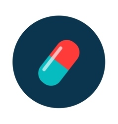 Pills vitamin icon of medication and medicaments vector