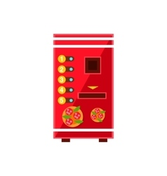 Pizza vending machine design vector