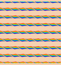 Rainbow geometric seamless pattern 404 vector