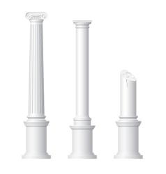 Realistic antique columns vector image