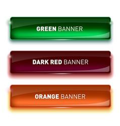 Set of glass green dark vector