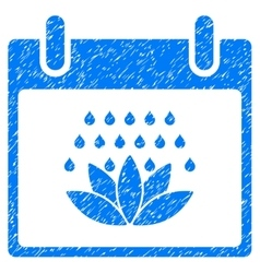 Spa shower calendar day grainy texture icon vector