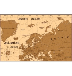 Vintage Europe map vector image vector image