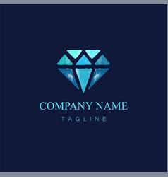 Watercolor diamond logo design4 vector
