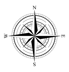 Wind rose compas vector