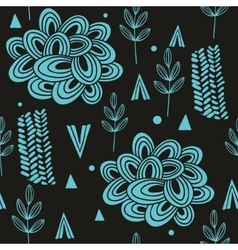 Seamless pattern with abstract nature elements vector