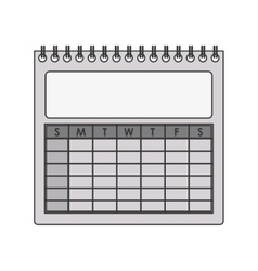 Silhouette gray scale calendar with spiral vector