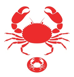 Crab logo vector