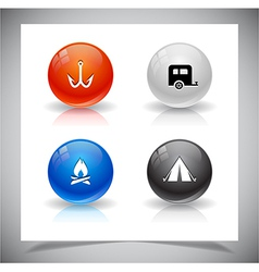 abstract glass balls vector image