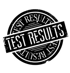 test results rubber stamp vector image