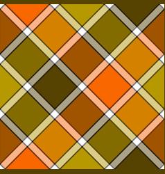 orange khaki marsh color diagonal check plaid vector image