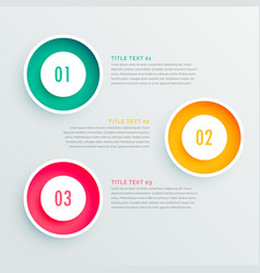 Elegant three steps infographic design vector