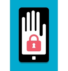 Smart phone security concept vector