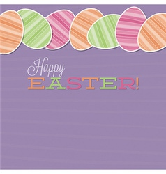 Retro easter egg card in format vector