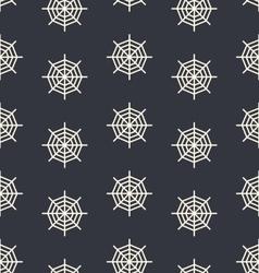 Design seamless monochrome spider web pattern vector image