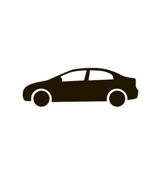 Car icon black silhouette of automobile isolated vector