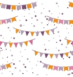 Bunting party flags garland seamless vector