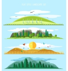Flat forest landscape vector