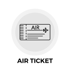 Air ticket icon vector
