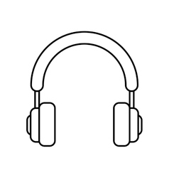 Headphones icon music and sound concept vector