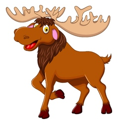 Cute moose cartoon for you design vector
