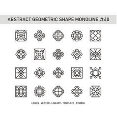 Abstract geometric shape monoline 40 vector