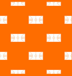 basketball field pattern seamless vector image vector image