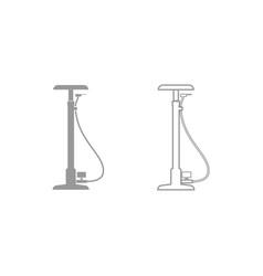 bicycle pump icon grey set vector image vector image