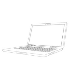 Curve laptop vector image