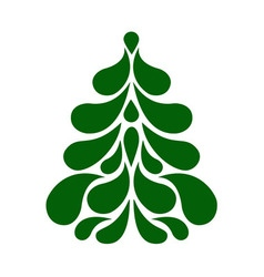 Decorative stylized christmas tree vector