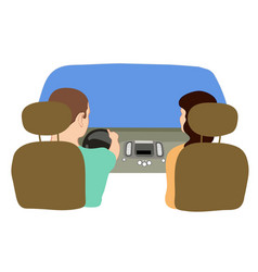 depicting a driver and a vector image