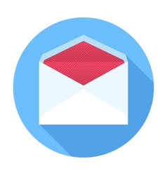 Envelope flat design icon vector