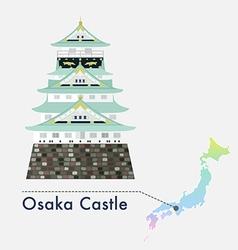 Japan castle osaka vector