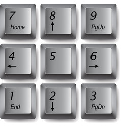 Keyboard keys vector image vector image