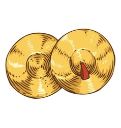 Pair of Golden Cymbal vector image vector image