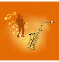 playing a musical instrument saxophone vector image