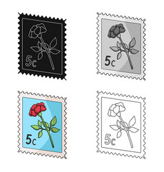 Postage stampmail and postman single icon in vector