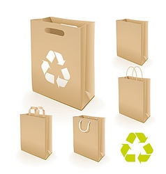 Recycling paper bag vector image