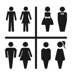 Restroom icon set vector