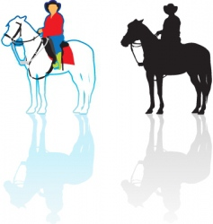 riding horse vector image vector image